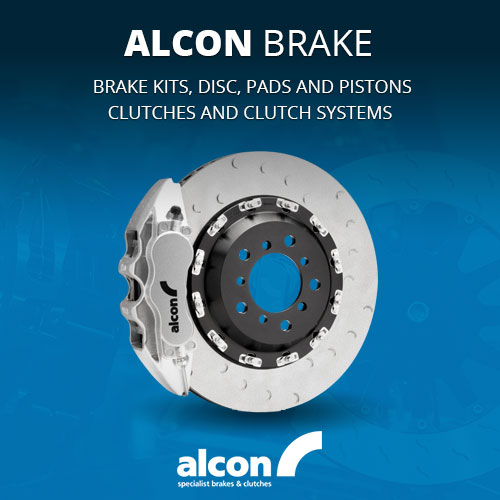 Alcon brake kits, disc, pads and pistons. Also clutches and clutch systems