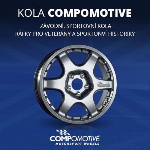 Závodní kola Compomotive pro asfaltové rally, šotolinu, okruhy, autocross či sportovní kola pro běžný provoz nebo veterány
