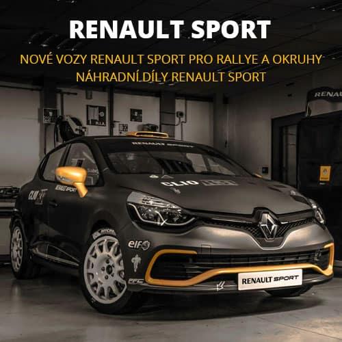 Nové vozy Renault Sport pro rallye (Clio R3T, Clio R3, Twingo R2, Megane N4) či okruhy (Clio Cup, Formule Renault) a náhradní díly pro tyto závodní vozy