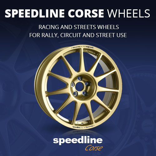 Speedline Corse wheels for rally, gravel, autocross, spor and street use