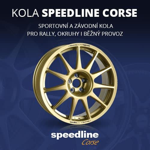 Osvědčené závodní kola Speedline Corse pro asfaltové rally, šotolinu, okruhy, autocross či sportovní kola pro běžný provoz